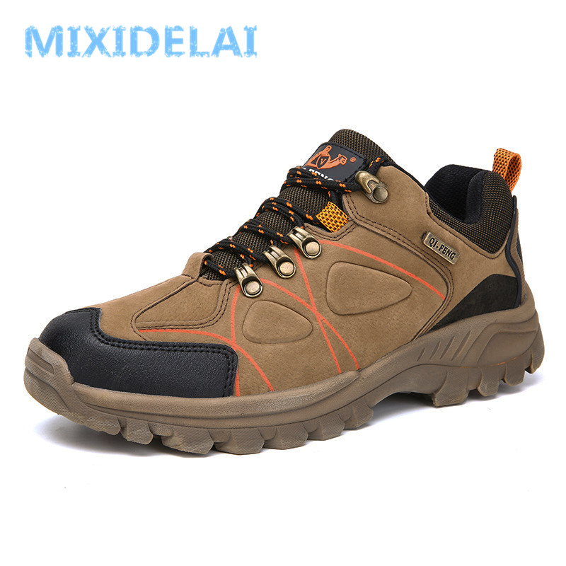 MIXIDELAI Spring/Autumn Outdoor Men Shoes 2019 New Breathable Man Casual Waterproof Non-Slip Shoes Man Sneakers Big Size 39-47