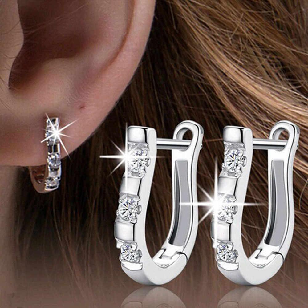 5099401dc Fashion Women Ladies Girls Ear Stud Hoop earrings big crystal earrings  statement earrings for wedding Jewelry