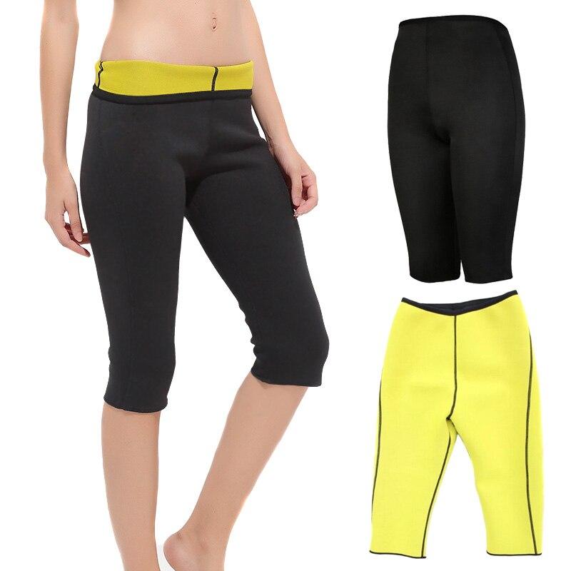 Women Slimming Pants Neoprene Fitness Workout  Body Shaper Stretch Tights Capris XRQ88