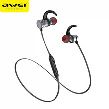 Awei AK4 Bluetooth earphone Outdoor Sports Magnetic IPX4 Waterproof Wireless Earphone with Microphone Noise Cancelling For Phone