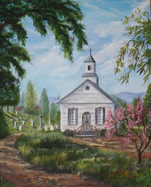 Drawings Of Old Country Churches Landscapes Gallery Art Church Oil Painting On Canvas Handmade Fine