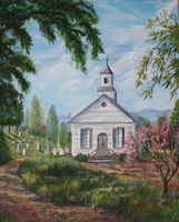 Drawings Of Old Country Churches Landscapes Gallery Art Country Church Oil Painting on Canvas Handmade Fine Art Hang on the Wall