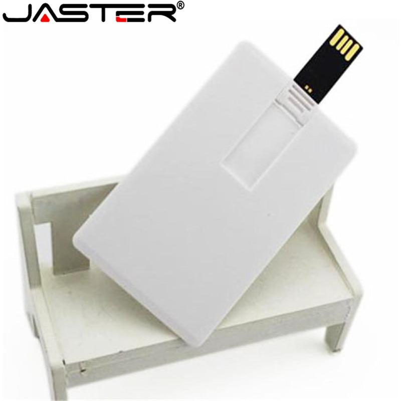 JASTER Custom Logo Print Photography Credit Card Usb 2.0 Stick Flash Drive 4gb 8gb 16gb 32gb Business Card (5pcs Free Logo)
