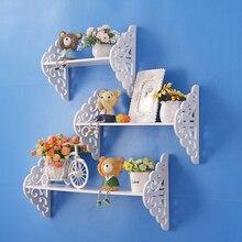 Деревянная полка в европейском стиле для креативного оформления стен и домашнего декора для книг, цветов