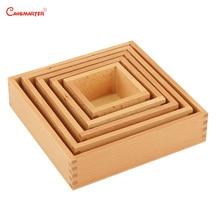 Educational Toys Baby Nesting Box Montessori Toys Size Sensorial Practice Boxs Teaching Wooden Beech Toy Game Montessori LT050-3