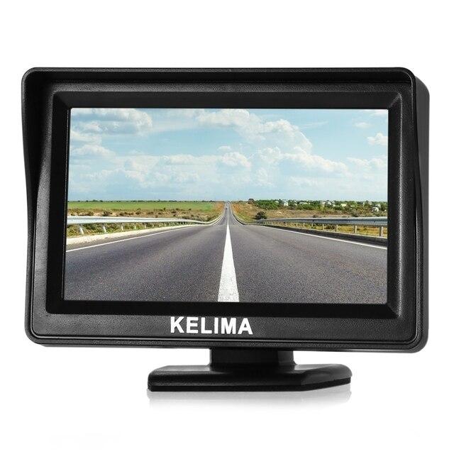 KELIMA Универсальный 4.3 дюймов Заднего Вида Автомобиля Дисплей TFT Экран Монитора AV1 и AV2 двусторонняя Входы Поддержка NTSC PAL
