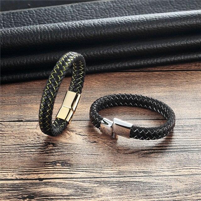 Купить 2018 модный браслет и мужской для отдыха ретро из кожи нержавеющей картинки