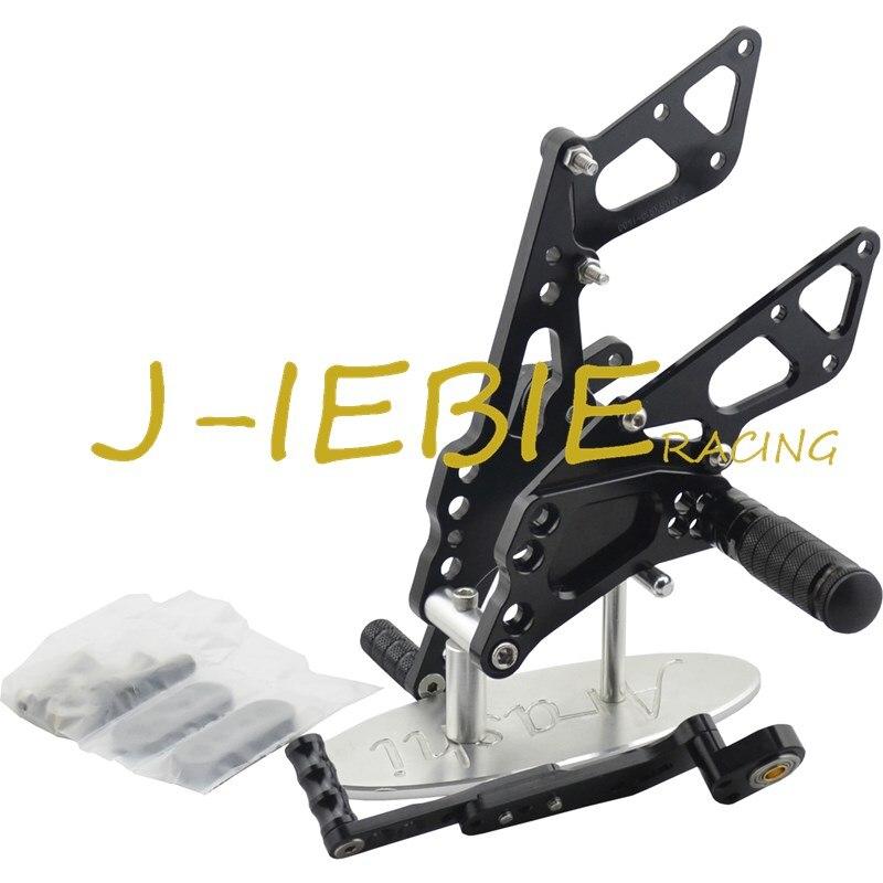 CNC Racing Rearset Adjustable Rear Sets Foot pegs Fit For Suzuki GSXR1000 GSXR 1000 2009-2016 K9 BLACK titanium cnc aluminum racing adjustable rearset foot pegs rear sets for yamaha mt 07 fz 07 mt07 fz07 2013 2014 2015 2016