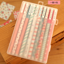 Wholesale 100 pcs/Lot Color Plastic Gel pen 2015 NEW Pattern wholesale stationery Office material school supplies