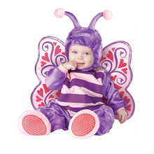 New 2017 baby Boys Girls Halloween Purple Butterfly Costume Romper Kids Clothing Set Toddler Co-splay