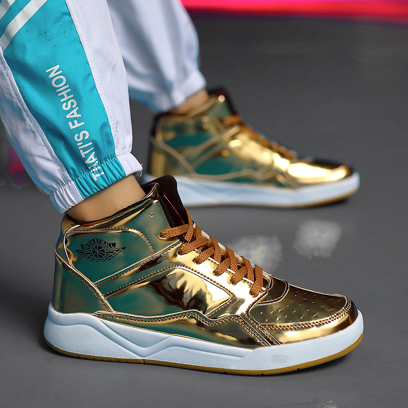 CNFIIA Chaussures Hommes Skate Chaussures D'or Noir Ruban Mâle Chaussures 2018 Mode Designer De Luxe Hommes Chaussures Lace Up Hot Vente sneakers