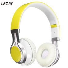 Leory caliente plegable auriculares estéreo surround 3.5mm diadema auricular auriculares para samsung para htc auriculares con micrófono audio