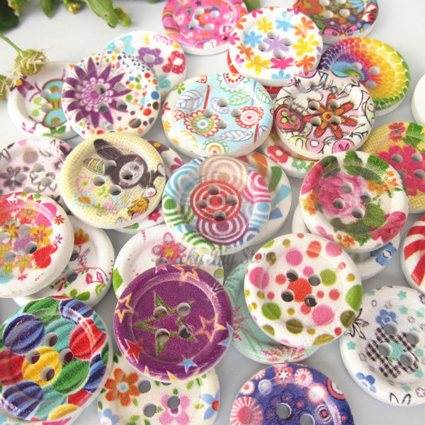 Buy 72pcs mixed postoral series floral 4 for Decorative buttons for crafts