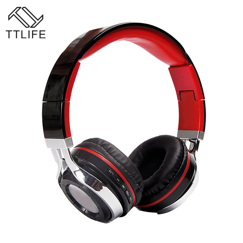 TTLIFE Brand Wireless Bluetooth DJ Studio Headphones Working 6.5h Portable Foldable Headset With Microphone for Gaming Calling