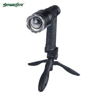 SKYWOLFEYE 1000 lumen LED Flashlight Torch 18650 Battery Adjustable Camping Rechargeable Power Bank Bicycle Lawn Lights Mini USB