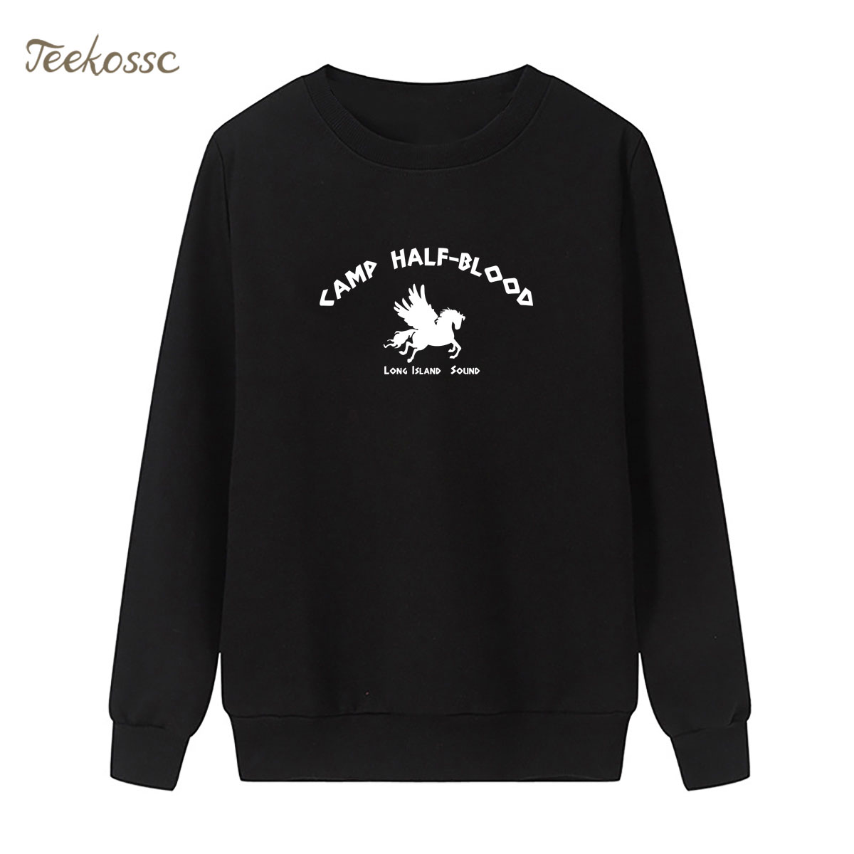 Camp Half Blood Demigods Sweatshirt Print Long Island Sound Hoodie Winter Autumn Women Lasdies Pullover Loose Fleece Streetwear
