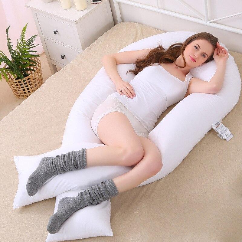 152*75 cm Nouveau De Maternité grand U En Forme de Corps Oreillers Corps Coussin de Grossesse Pour Side Sleeper Couvercle Amovible