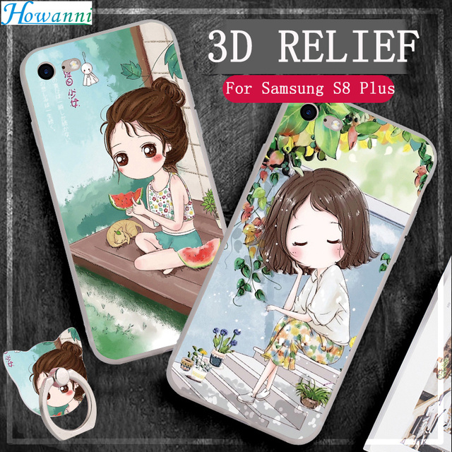 "Soft Cute Case For Coque Samsung Galaxy S8 Plus Case Silicone SM-G955F 6.2"" Relief Colourful Case For Samsung S8 Plus Case Capa"