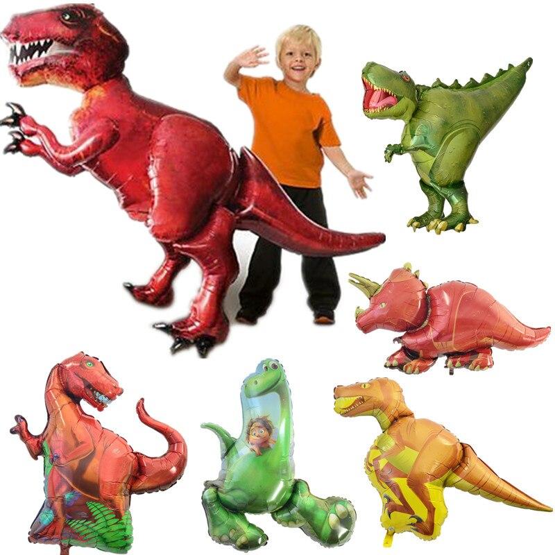 11 style Big dinosaur Balloon Baby Shower font b Mini b font Head dinosaurs Balloon Stick