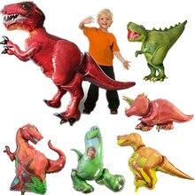 32 style Big dinosaur Balloon Baby Shower Mini Head dinosaurs Balloon Stick Birthday Party Decorations Kids