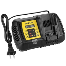Dcb118 Dcb112 Replacement Battery Charger 4.5A Lithium Ion Fast Charger For Dewalt Dcb205 Dcb206 Dcb203Bt Dcb204Bt Dcb127 Dcb1