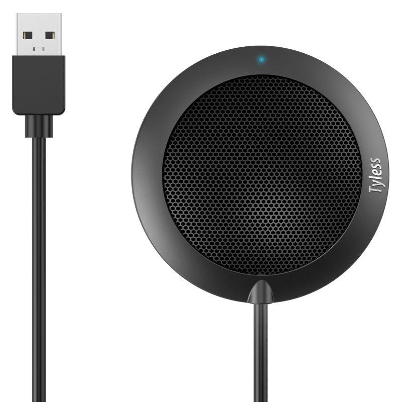 Tyless USB Plug computer tabletop Omnidirectional Condenser Boundary Conference microphone for Recording,Gaming,Skype, VoIP Call image