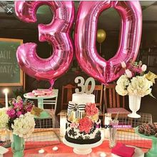 1pc 40 inch rose Gold Silver Aluminium Foil Number Balloons 0-9 Birthday Wedding Engagement Party Decor Globo Kids Ball Supplies