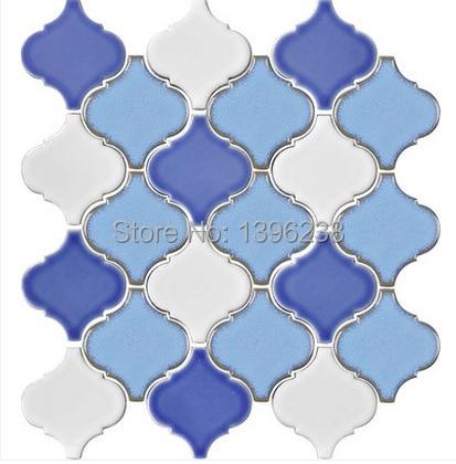 Polished Blue Ceramic Mosaic Kitchen backsplash wall tiles,Bathroom Ceiling Mediterranean style home decor art wallpaper,LSDL08 art ceramic