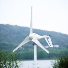 R&X 400W Wind Turbine Power Generator with Free Controller Horizontal 3/5 Blades 12V/24V China Manufacturer 800w 12 v 24 volt 5 nylon fiber blades horizontal wind turbines generator power windmill energy charger kit home black