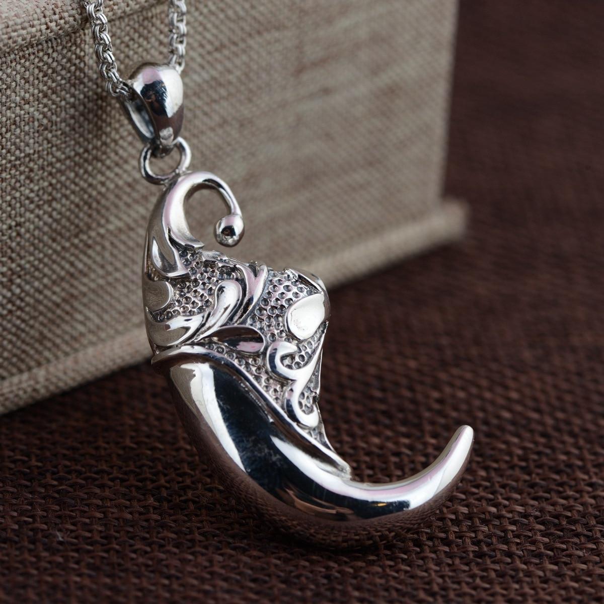 Cerf roi bijoux en gros S925 pendentif en argent Sterling antique artisanat nouvelle personnalité de mode grand cadeau