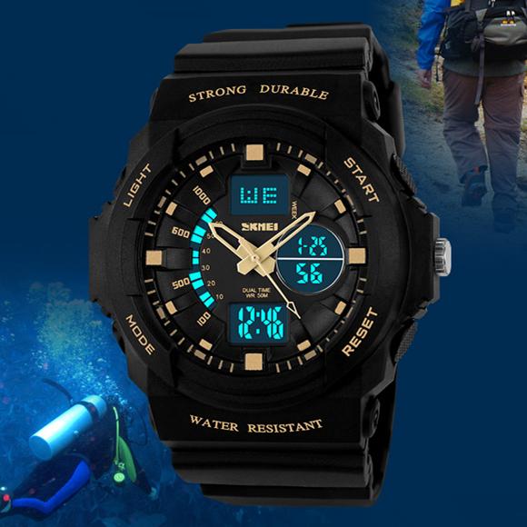 Prix pour Relogio Masculino Skmei Marque Hommes Sport Numérique Montres LED Gelée Militaire Mâle Horloge Montre-Bracelet 50 M Étanche Étudiant Montre