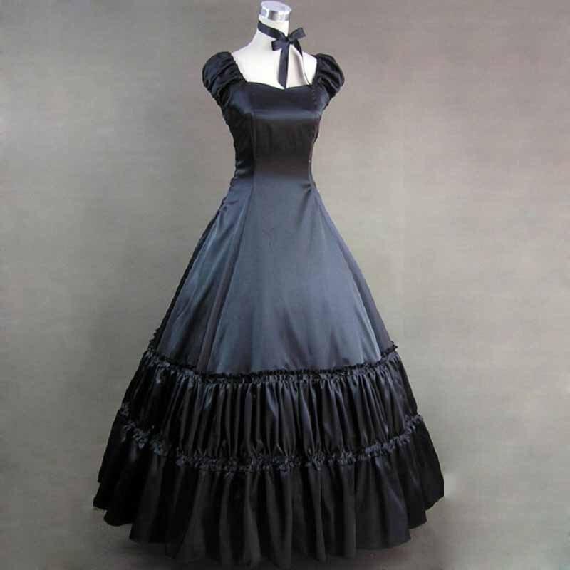 Elegant Victorian Dress Vintage Classic Womens Gothic -6161