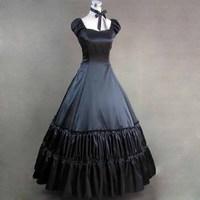 Elegante vestido victoriano vintage classic mujeres gothic lolita escuela mujeres fantasias disfraces cosplay girls plus size vestidos