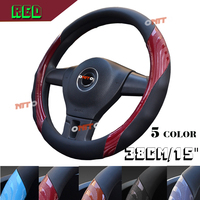 High quality M 38cm 15 car Steering Wheel Covers Durable Anti sliP Wrap Cover Universal streer cover Car Interior Accessories