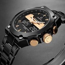 Men Watches Male Brand Sports Watches Steel Strap LED Digital Military Quartz Watch Men Luxury Wrist Watch Relogio Masculino