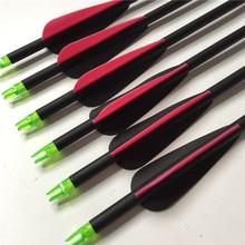 6Pcs 3 Inch Water Drop Plastic Feathers Fiberglass Arrows SP 750 Archery, OD 7.8mm Hunters Outdoor AF Archery Composite Sale