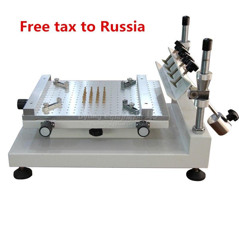 Imprimante pâte à braser manuel de haute précision sérigraphie imprimante rouge colle impression machine Magasins D'usine