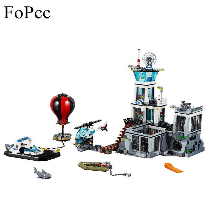 02006 815Pcs City Police Series The Prison Island Set Building Blocks Bricks Educational Toys For Children Legoings Gift
