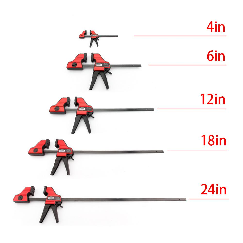 New Heavy Duty F Clamp Clip Wood Working Quick Grip F Style Bar Woodworking Clamps 4/6/12/18/24 Inch DIY Hand Woodworking