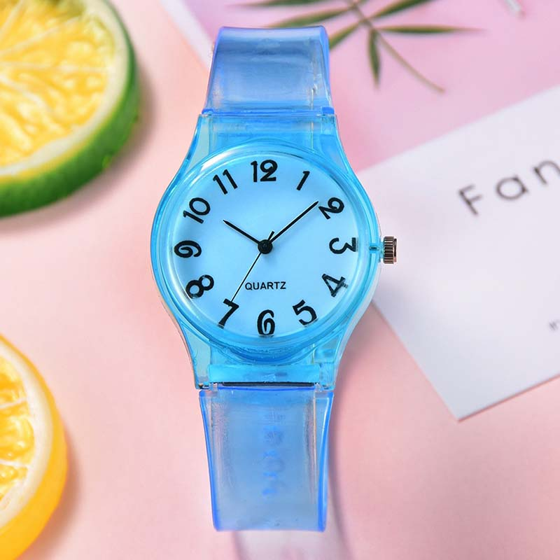 Girls Clock Wristwatch Silicone Digital Kids Cartoon New Fashion Gift Quartz Candy-Color