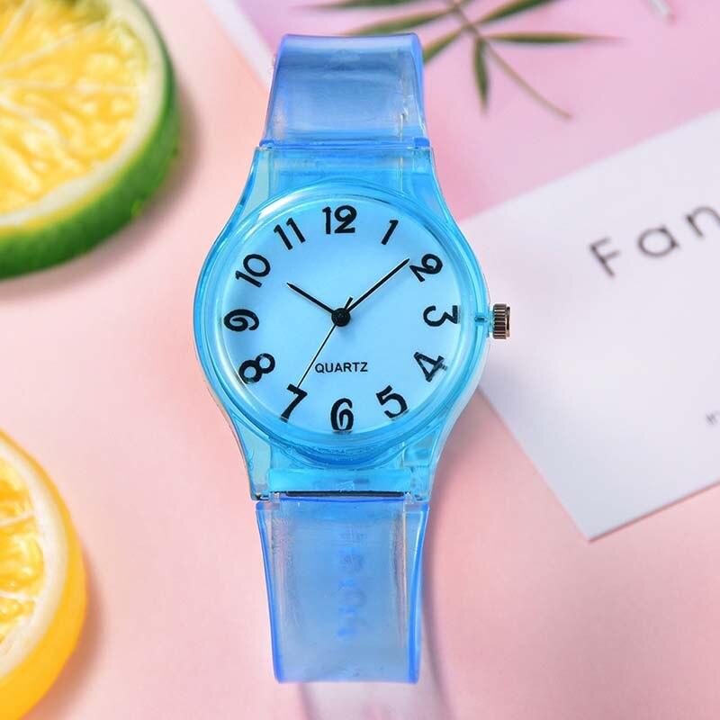 New Silicone Candy Color Student Watch Girls Clock Fashion Digital Watches Children Wristwatch Cartoon Kids Quartz Watch Gift