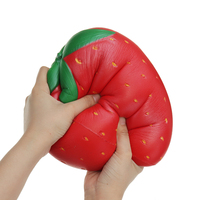25*20cm Huge Strawberry Fruit Slow Rising Soft Christmas Toys For Children Gift Collection With Packaging Wipes Antistress Ball