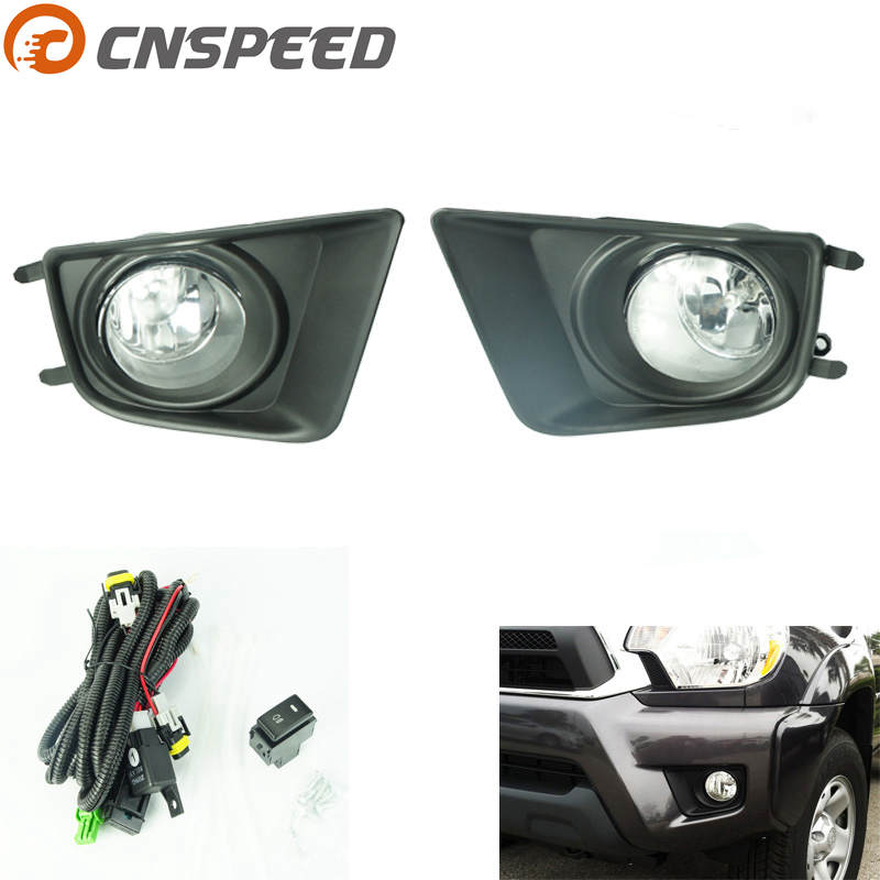 CNSPEED Fog light for Toyota Tacoma 2012-2015 fog lamps Clear  Yellow Smoke Lens Bumper Fog Lights Driving Lamps YC100597 1pair clear lens fog lights bumper driving lamps with bulbs for nissan altima sedan 2007 2012