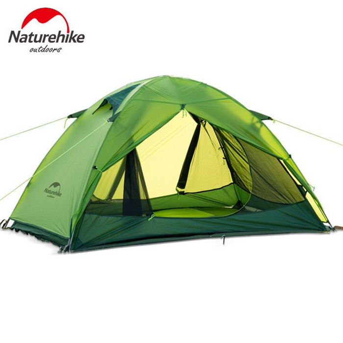 NatureHike Camping Tent Outdoor Inflatable Lightweight Playing 2 Person 20D Silicone Double-layer Tents naturehike factory sell 1 person 2 person 3 person tent green 20d silicone fabric double layer camping tent lightweight