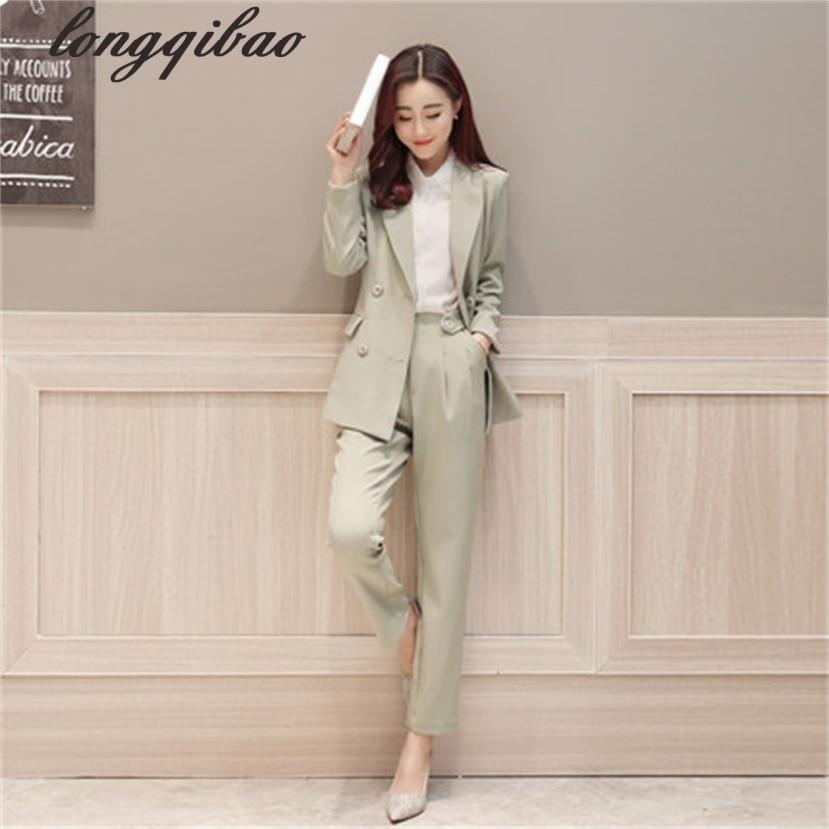 Здесь продается  Pant Suits Women Casual Office Business Suits Formal Work Wear Sets Uniform Styles Elegant Pant Suits TB7493  Одежда и аксессуары