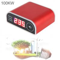 US003 Red 100KW Rat Repelling Power Saver 110 250V Electricity Saving Box with LED Display and Power Switch for Home / Factory