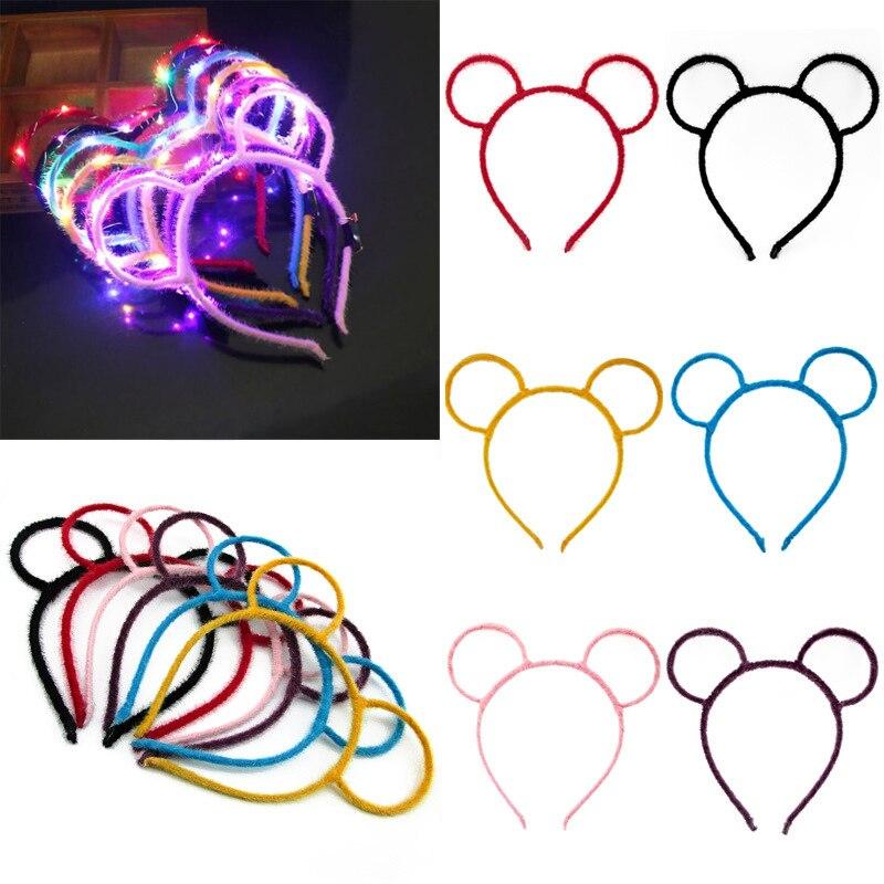 Children Hair Band Bow Minnie Mickey Ears Hair Accessories Ladies Headband Kids Christmas Hairband Happy Birthday Party Decors