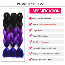 Jumbo Braids Ombre Braiding Hair 2 3Tone Black Brown Pink Color Sallyhair 24inch High Temperature Fiber Synthetic Hair Extension