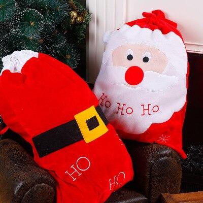 christmas gift bags stocking santa claus and belt navidad decoraciones para el hogar christmas decoration for home 55x65cm
