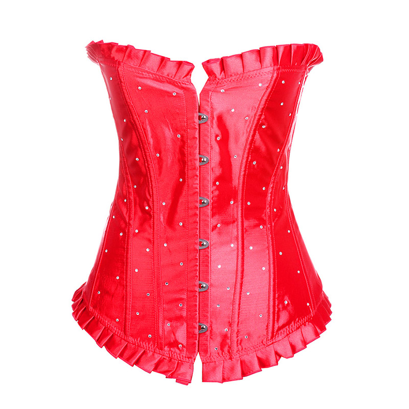 Sexy Women Sexy   Corset   Women Red Lace   Bustier     Corset  +G string Set Lingerie S M L XL XXL